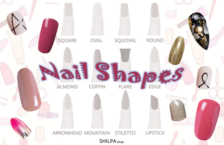Nail Shape Chart Find Out About Different Nail Shapes And Designs