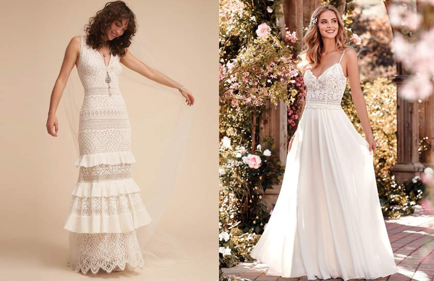 best-romantic-bohemian-hippie-wedding-dresses-boho-bride-look