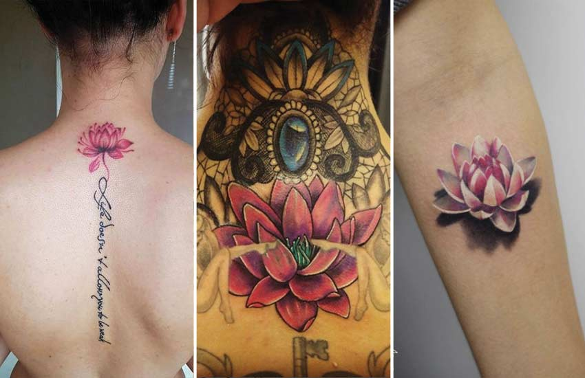 a8e460f5fd626 60 Lotus Tattoo Ideas: Lotus Flower Tattoo Meaning & Where to Get It
