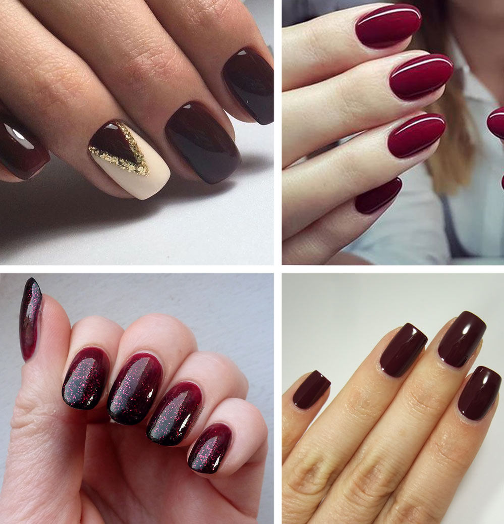Gel Nail Designs: Best Burgundy Nails: 45 Nail Designs For Different Shapes