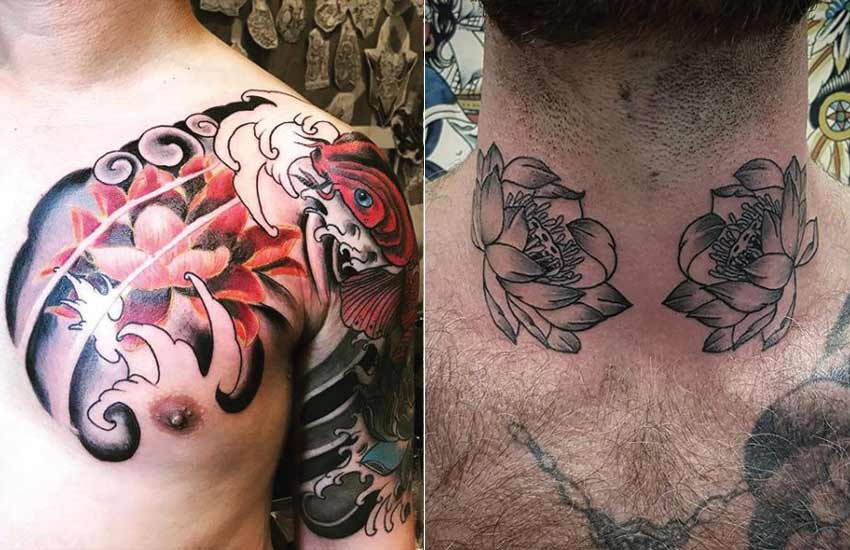 lotus-flower-tattoo-trends-ideas-men-sleeve-chinese-tattoos