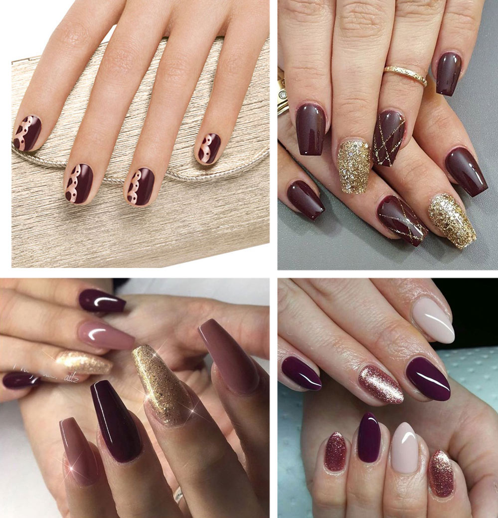 Burgundy Nails 45 Nail Designs For Different Shapes Shopping Ideas