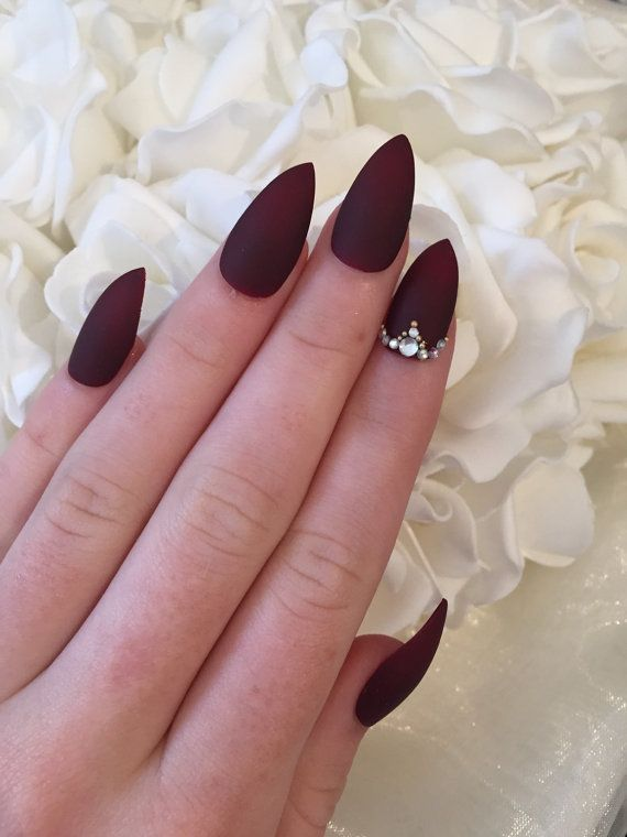 Burgundy Nails: 45 Nail Designs for Different Shapes & Shopping Ideas