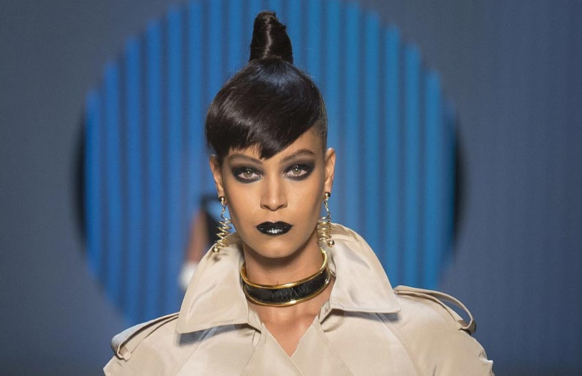 paris-fashion-week-2018-couture-collection-jean-paul-gaultier-black-lipstick-top-knot