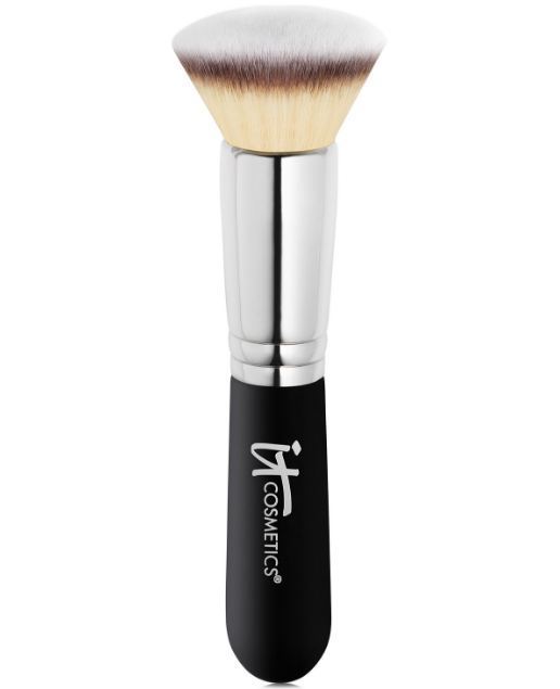 how to use a stippling brush with powder foundation