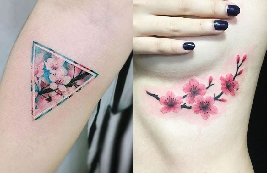realistic-cherry-blossom-flower-tree-botanical-tattoo-trend