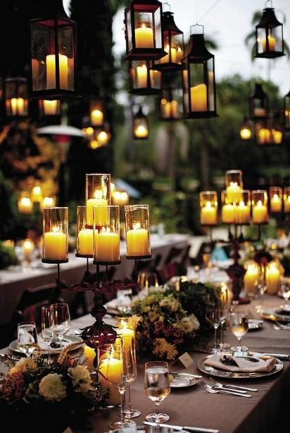 rustic-bohemian-hippie-wedding-decor-table-setting-lantern-ideas