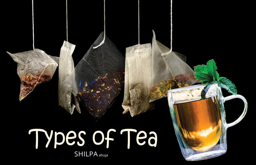 types of tea health-benefits-green-black-white-red-fermented-herbal