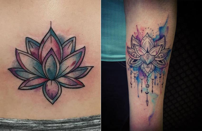 watercolor-trend-lotus-tattoos-women-chandelier-galaxy
