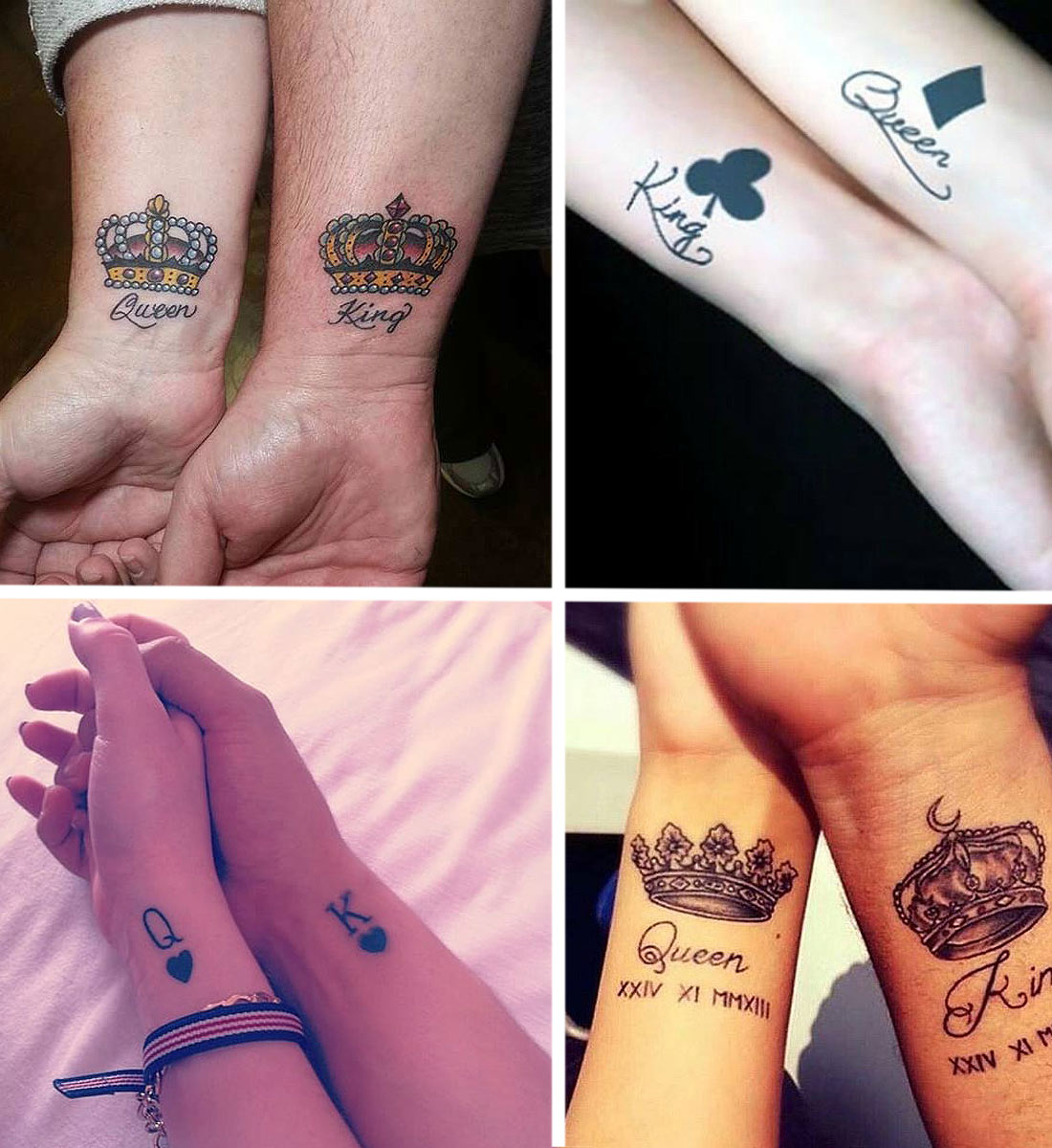 King And Queen Tattoos Best Couple Tattoo Ideas