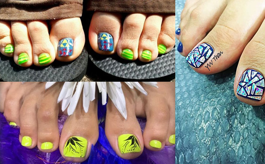 bright-toe-nails-designs-nailart-2018