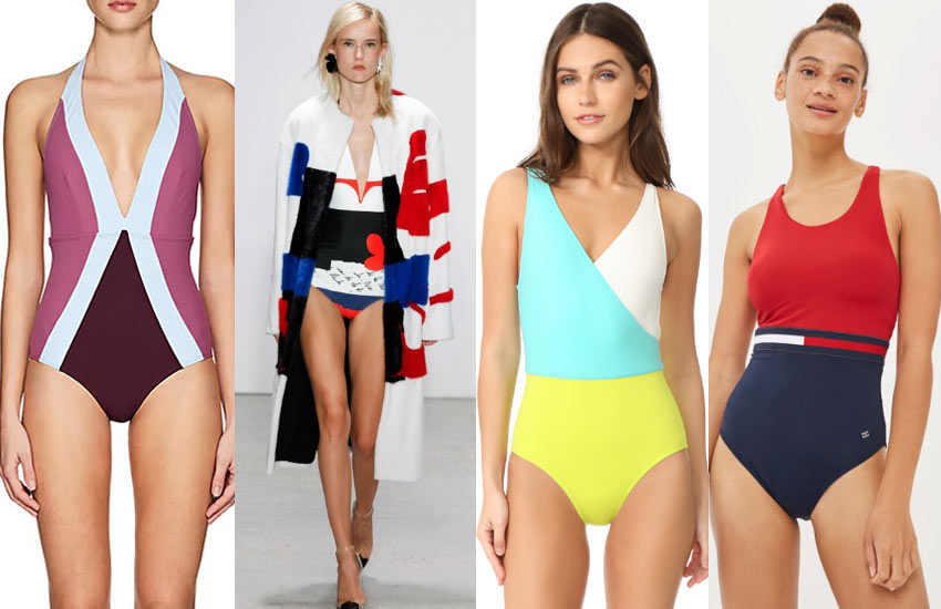 designer-bikinis-color-blocking-beach-swimwear-2018