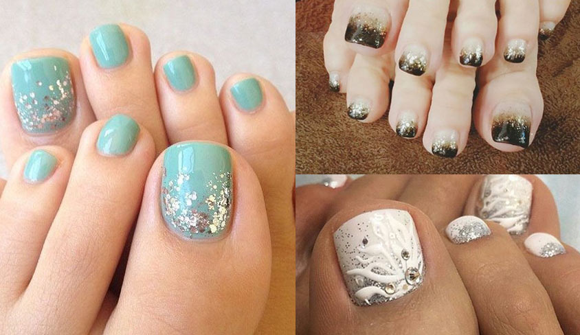 glitter-pedicure-design-trends-ideas-2018