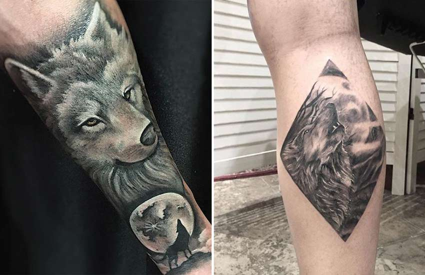 howling-wolf-moon-werewolf-tattoo-designs-ink-art