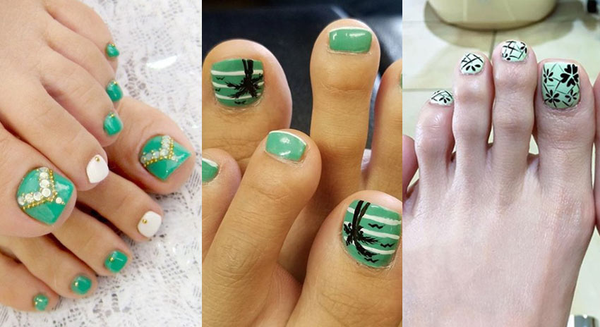 mint-toe-nails-designs-nailart-summer-2018
