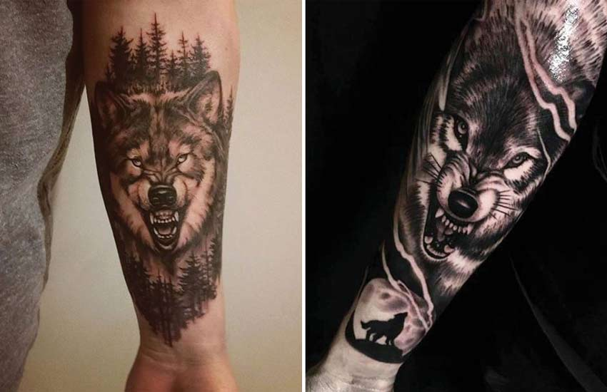 snarling-wolf-scary-werewolf-tattoo-ideas-designs-art