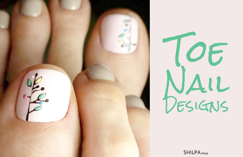 Toe Nail Designs-art-trends-nails-pedicure-summer-2018 - 50 Toe Nail Designs Pedicure Ideas For Every Season, Color & Mood