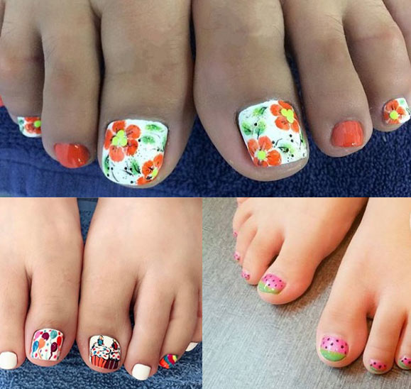 Crazy Summer Nails - 50 Toe Nail Designs Pedicure Ideas For Every Season, Color & Mood