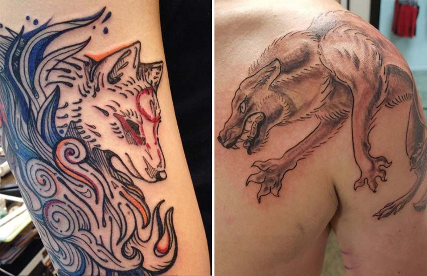 wolf-tattoo-design-ideas-japanese-traditional-manga-werewolf