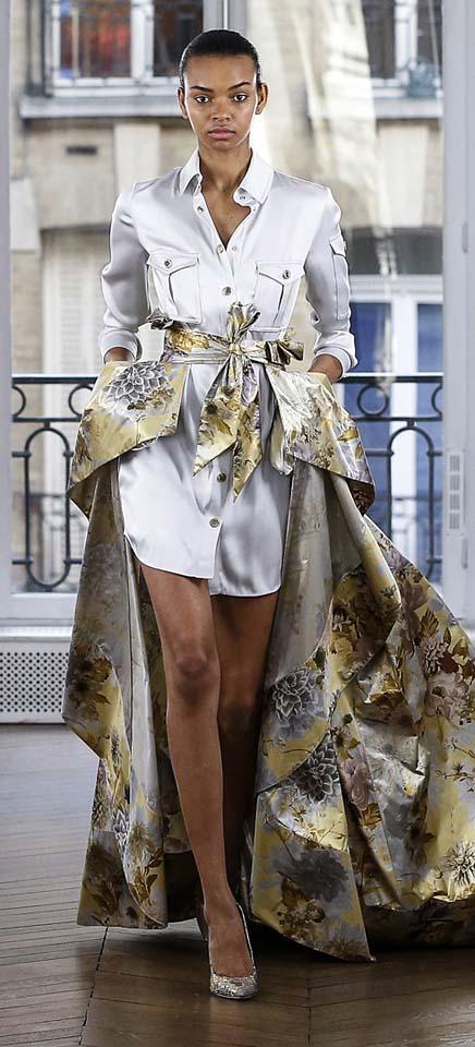 Ralph-Russo-autumn-winter-2018-collection-dresses (16)-shirt-asymmetric-skirt