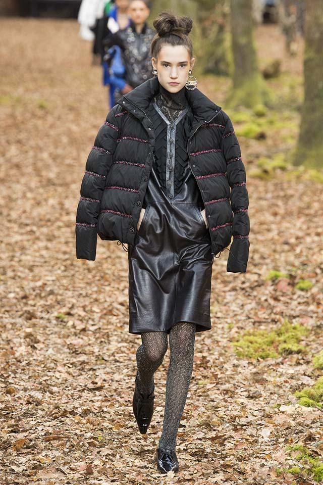 chanel-turtleneck-fall-winter-2018-leather-dress-fashion