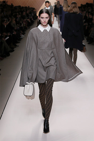 fendi-fall-winter-2018-collection-fw18 (23)-collared-cape-dress