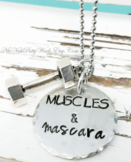 fitness-jewelry-ideas-weight lifting-necklace- amazon