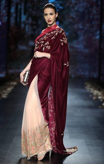 Latest Trends In Bathroom Design Styles: 11 Latest Saree Trends For 2018