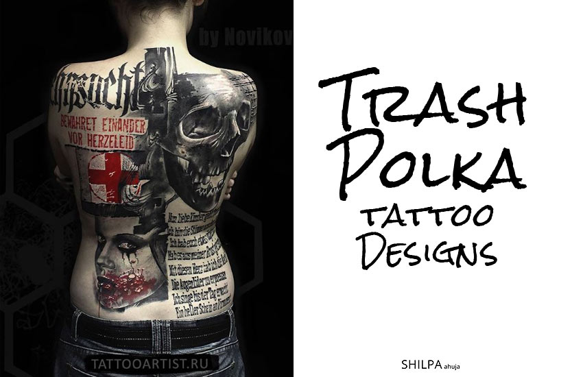 Trash Polka Tattoo-ideas-designs-black-red-color-themes