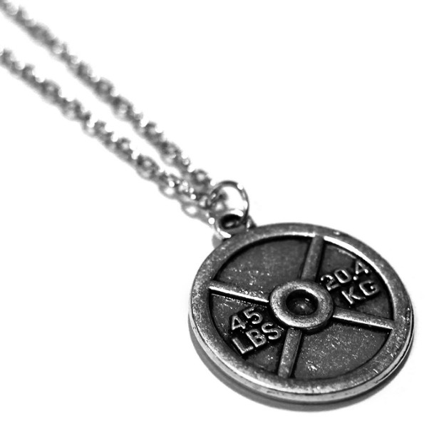 weightplate- necklace-fitness-jewelry-ideas-amazon-athlete-gym-lover
