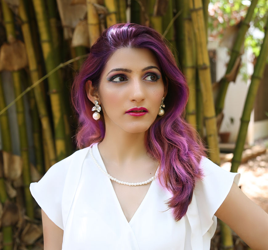 adventures of shilpalyn shilpa-ahuja-indian-fashion-blogger-chennai-purple-hair-color