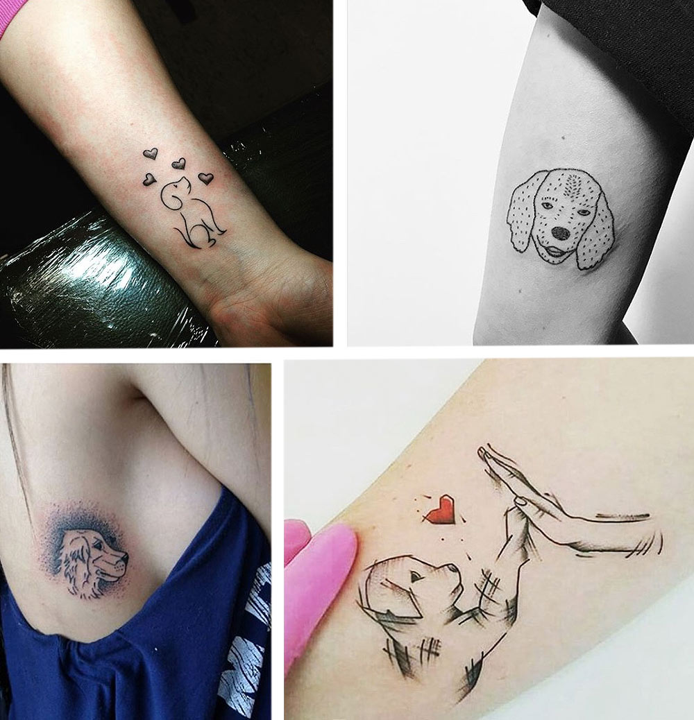 animal-tattoos-dog-friends-for-life-womens-tattoo-styles-doggy-puppy