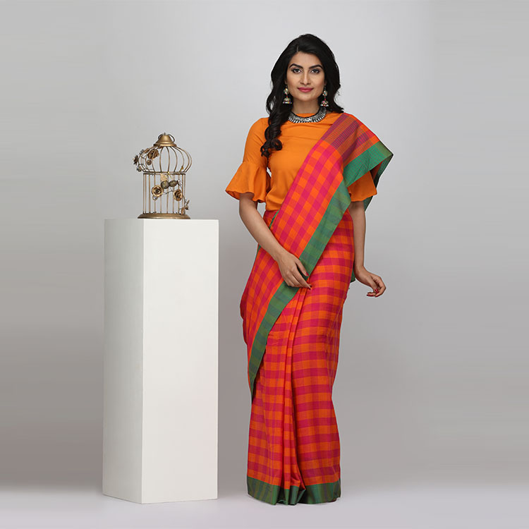 beyond-gallery-ethnic-wear-fashion-style-dresses (7)-checkered-saree