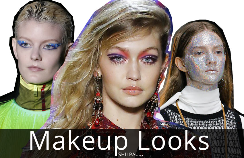 latest-Makeup Looks-designs-trends-glitter-eyemakeup-fall-winter-2018