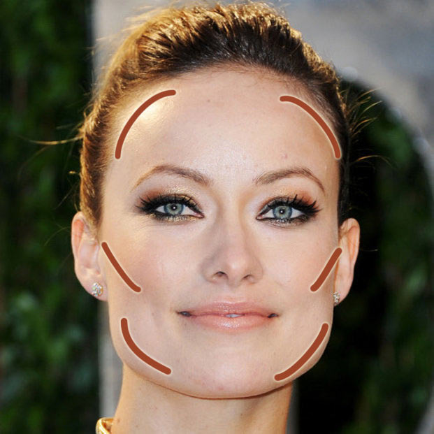 rectangle-square-face-shape-contouring-guide-where-to-contour-olivia-wilde