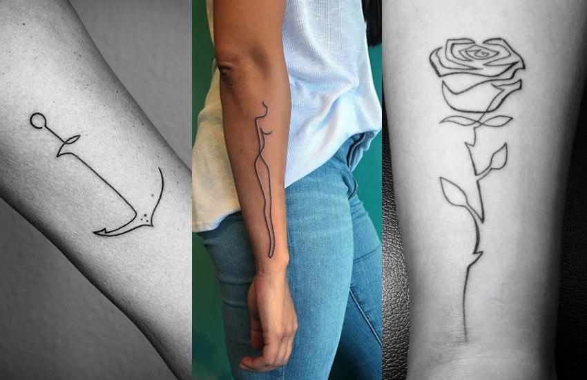 single-line-tattoo-trends-ideas-tattoo-art-fashion-style
