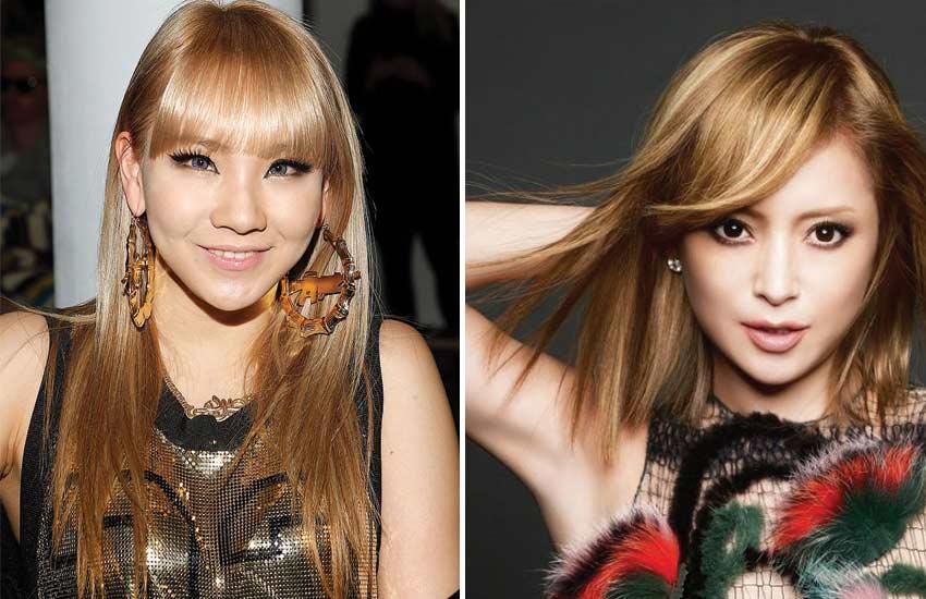 blonde-asian-hair-celebrities (1)-cl-2ne1-ayumi-jpop-kpop-hair-colors
