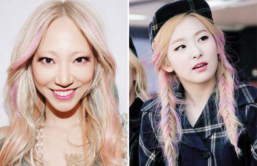 blonde-asian-hair-celebrities (10)-multti-colord-pastel-highlights-seulgi-red-velvet