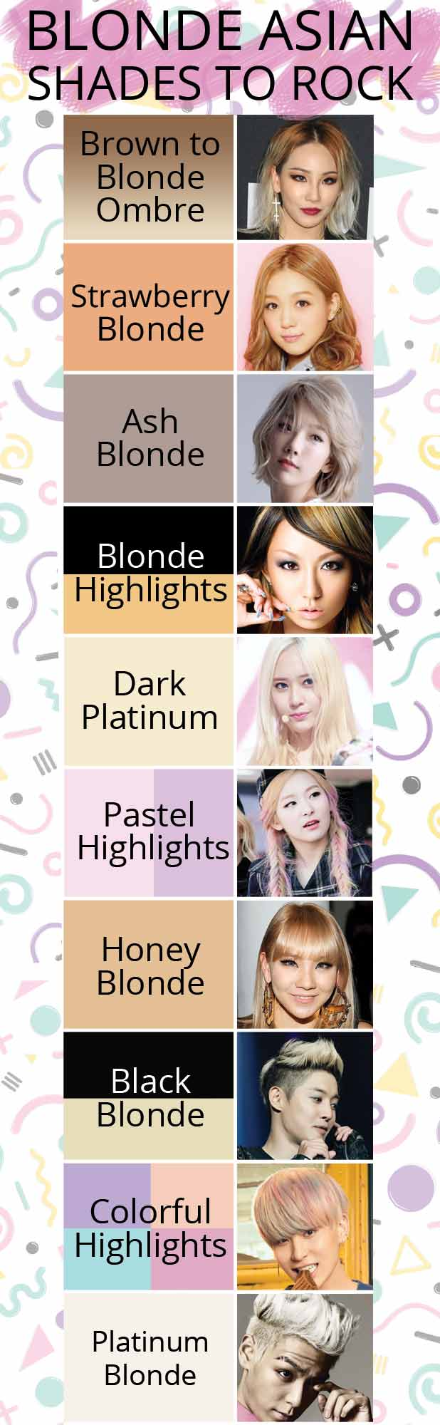 Blonde Asian Celebrities Who Are Totes Our New Hair Idols