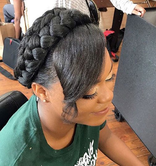 crown-braid-with-bangs-latest-hairstykes-party-hairdo