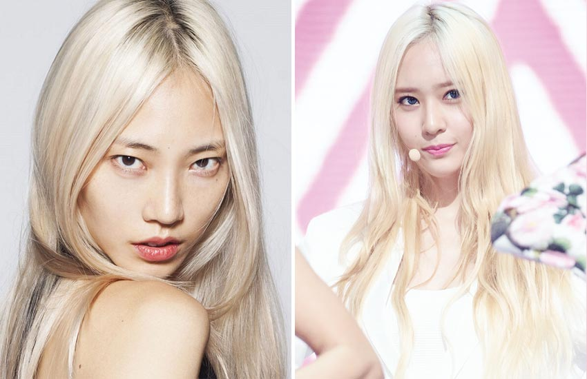 dark-platinum-blonde-asian-hair-celebrities (4)-soo-joo-park-krystal-jung