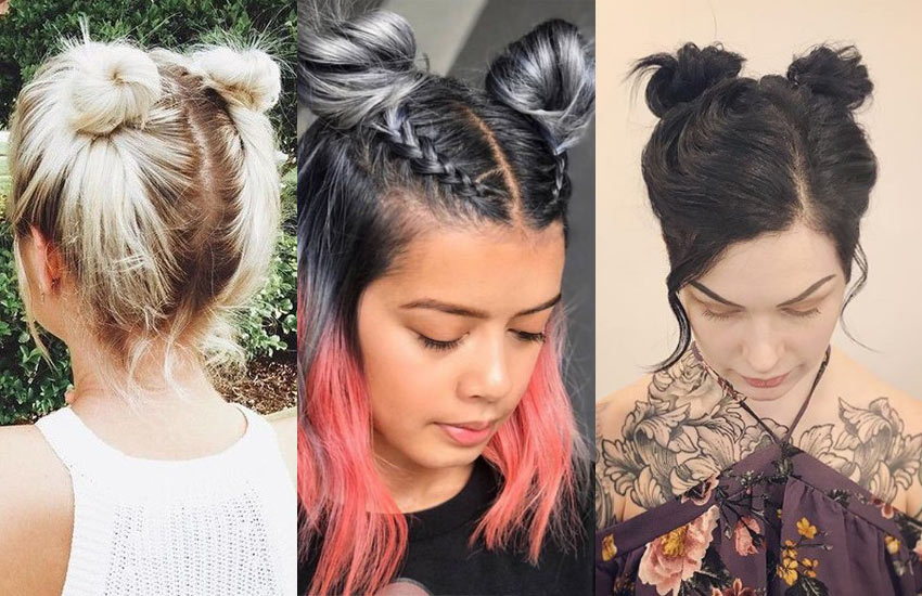 double-buns-hairstyle-short-hair-braided-bangs-how-to-style