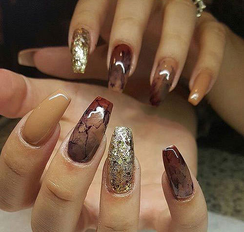 fall-acrylic-nails-acrylic-nail-designs-latest-nail-art