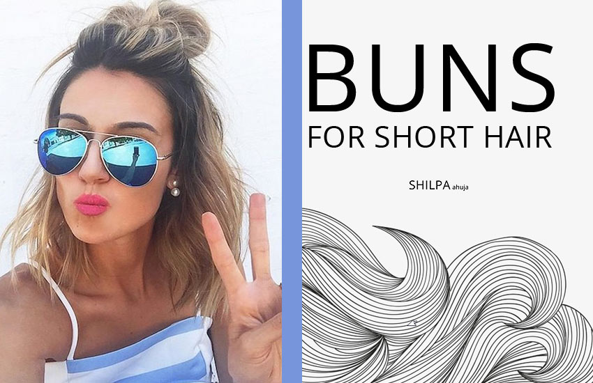 How to make a Bun with Short Hair-trends-top-knot-buns-style-fashion-messy-hair