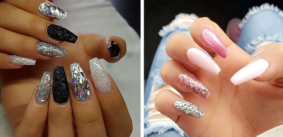 shimmery-acrylic-nails-latest-festive-season-nails-color-ideas