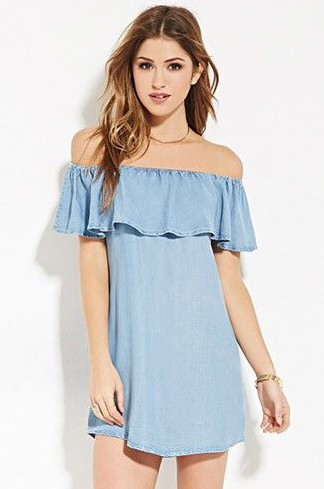types-of-dresses-off shoulder- designer-forever 21-fashion-words-vocabulary-terms