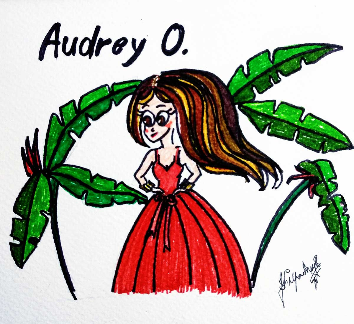 audrey-o-comics-cartoon-red-gown-party-fashion-girl-drawing