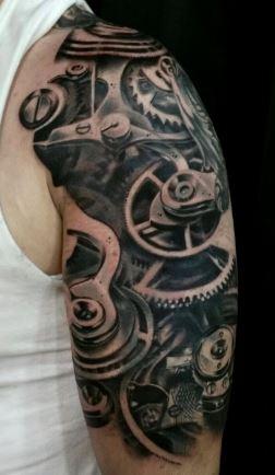 biomechanical-tattoo-robot-arm