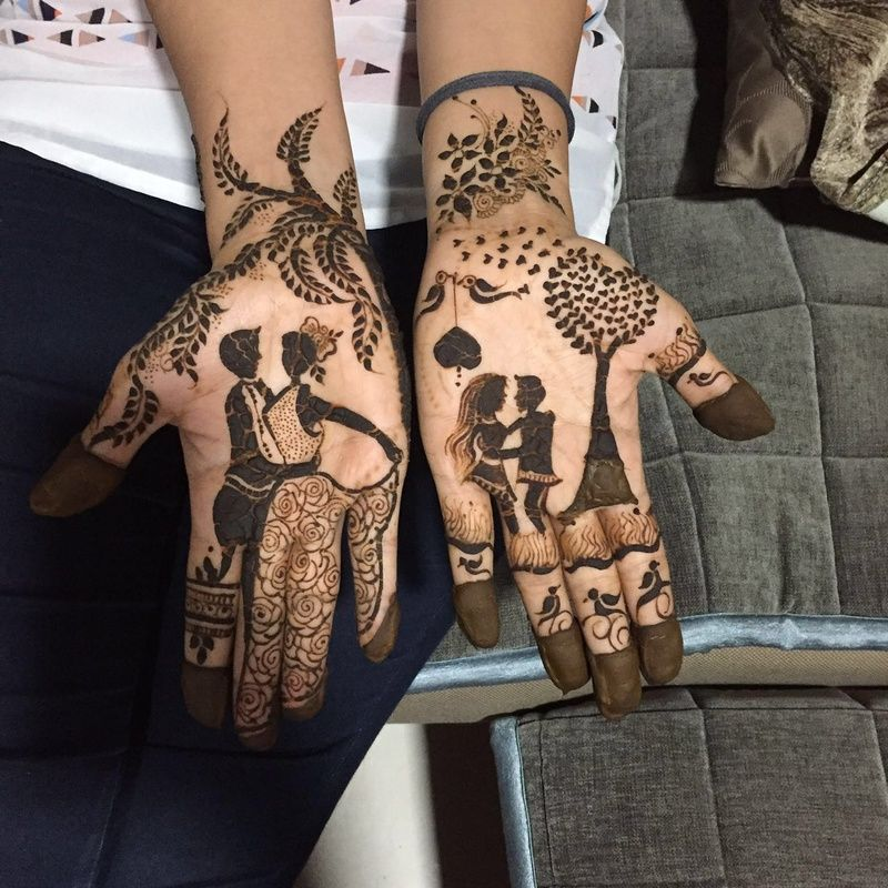 mit rthd via pin - couple story-latest-mehendi-designs-for-couple-designs-trends-fashion
