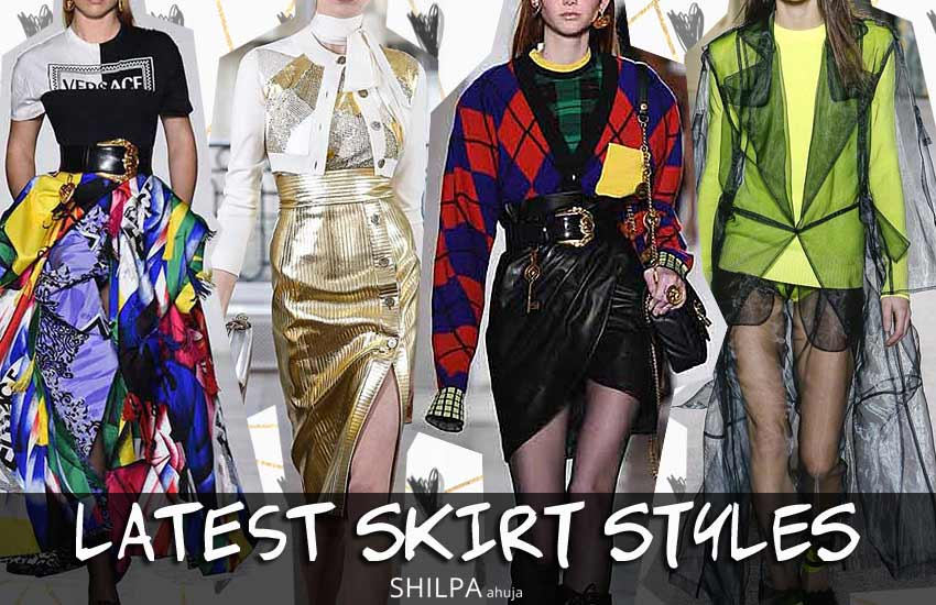 latest skirt styles skirt-trends-fall-winter-2018-fw18-rtw-versace-fashion-style